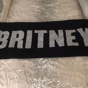 Black and silver Britney Spears towel💕new